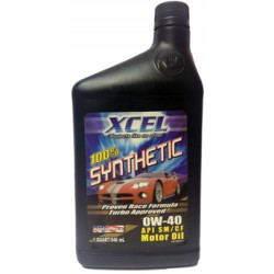 Xcel 100% Synthetic Motor Oil SAE 0W-40