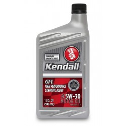 Kendall GT-1 High Performance Synthetic Blend Motor Oil 5w-30